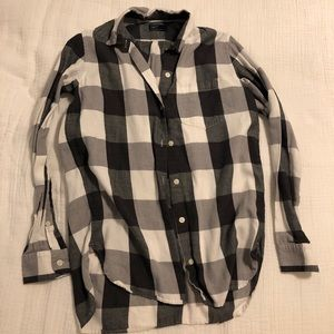 Black and white plaid shirt